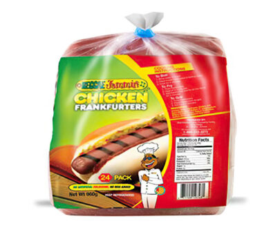 Product image of Reggae jammins chicken Frankfurter 24 pack